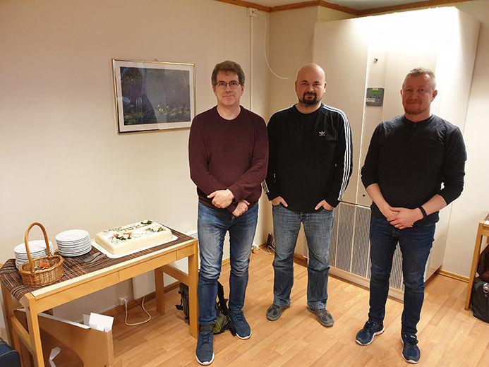 Her er primus motor i Alta kommune, Roy Knutsen (i midten) og Jan Are Mienna, sammen med Pål Norvoll i Kautokeino kommune.