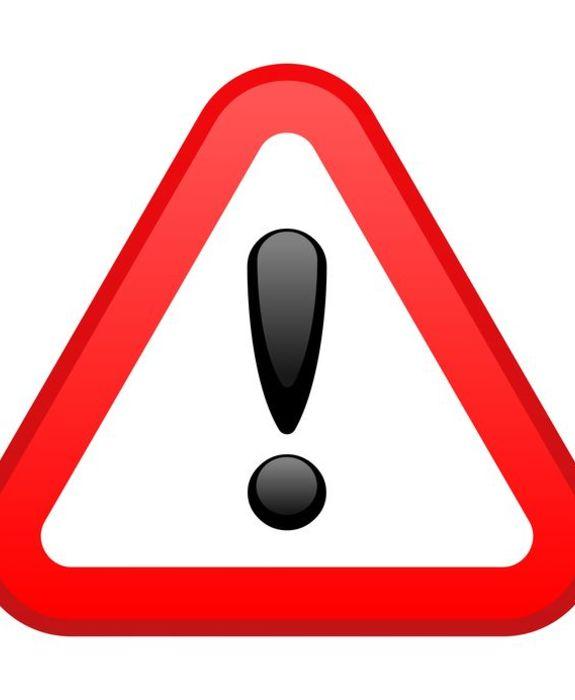 5536864 - warning red triangular sign