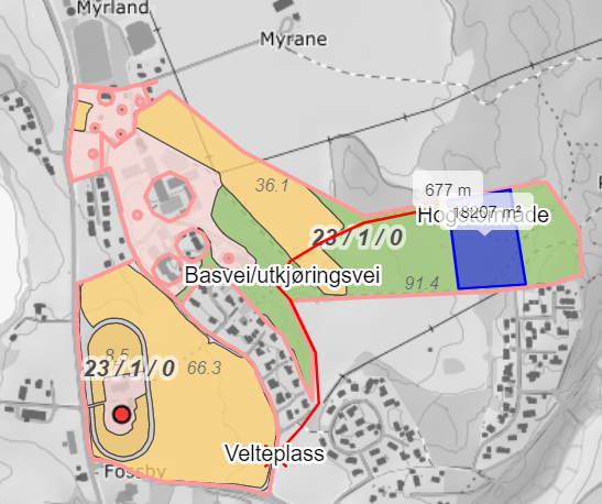 Kart hogst Fossbyåsen