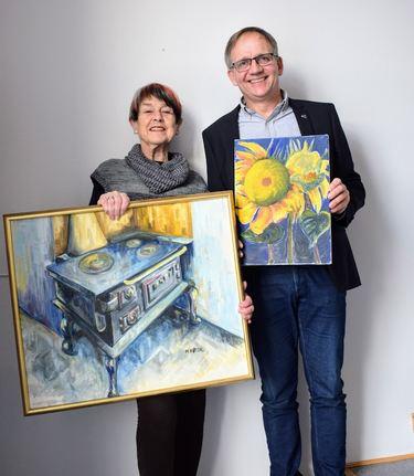 Kunstutstilling på rådhuset - Wenche Høidahl og Håkon Tolsby