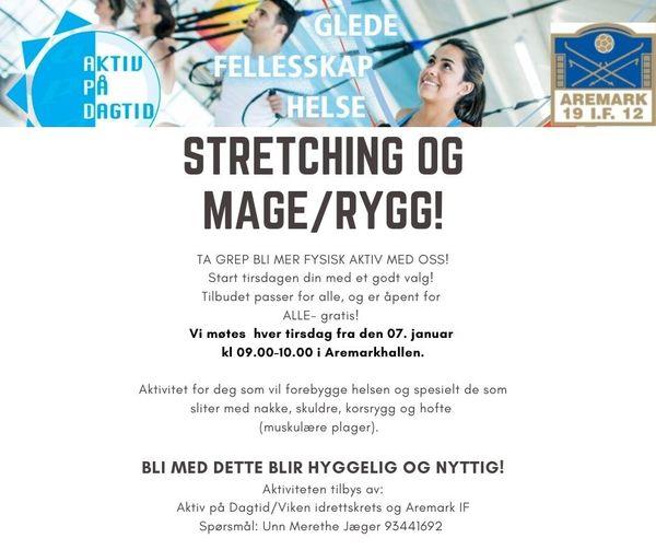 Stretching og mage_rygg!