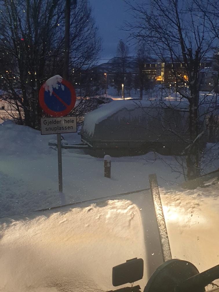 parkert tilhenger