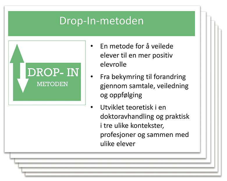 Bilde av forsiden til presentasjonen om Drop-In-Metoden