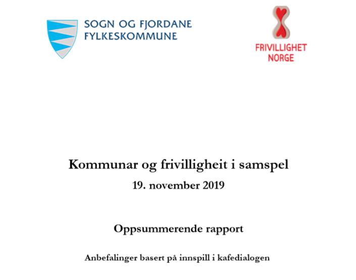Rapport frå arbeidsverkstadar under konferansen Kommunar og frivilligheit i samspel