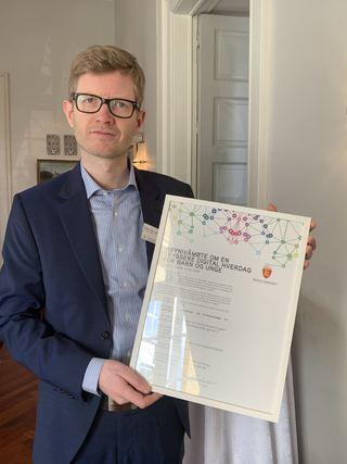 Einar Olav larsen med felleserklæringen