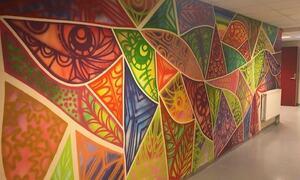 Kunstvegg på Nordbytun ungdomsskole