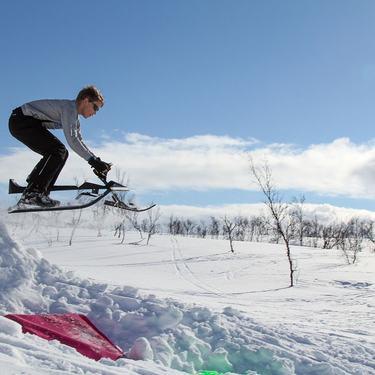 Lek i snøen