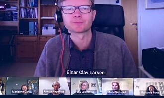 Nettmøte Guri Melby og Einar O. Larsen
