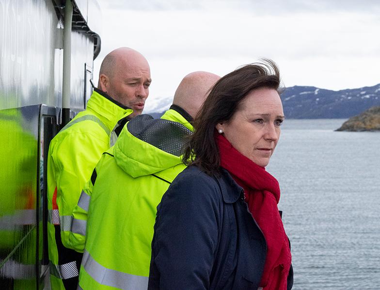 Ordføreren på befaring Kråknes