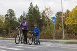 Syklister over gangfelt