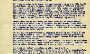 I Sæbø var mange fortvila over kravet om levering av høy til tyskarane og frykta for framtida