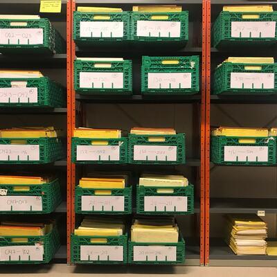 Ordning av papirarkiv med elektronisk journal
