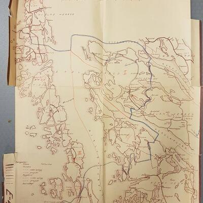 Kart over Hjelme og Herdla herreder