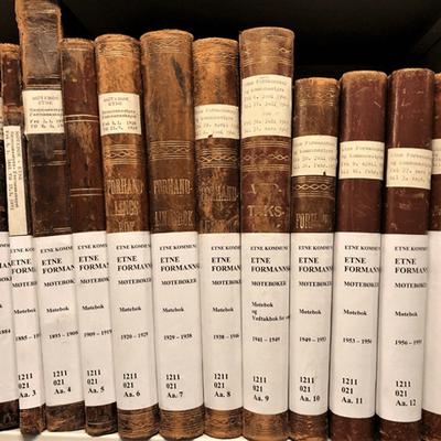 Den tyske invasjonen sett frå arkivet - møtebøker