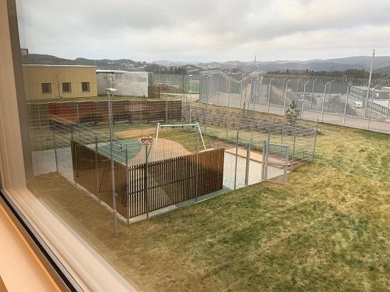 Utsikten fra celle i Agder fengsel, avdeling Mandal
