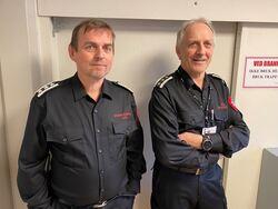 Frank Pettersen og Knut Suhr - brann