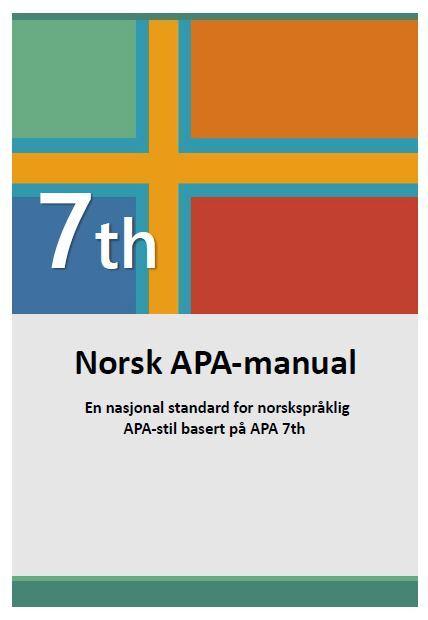 Forside APA-manual