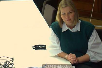 MØTTE FUB: Kunnskapsminister Guri Melby møtte FUB-ledelsen og sekretariatet digitalt torsdag ettermiddag.