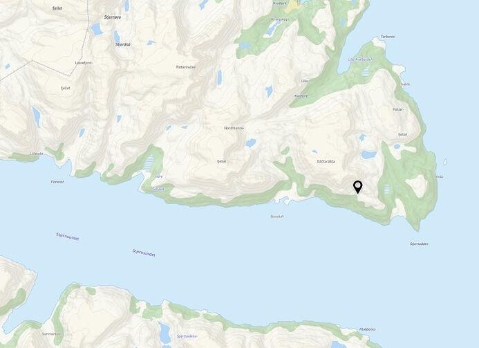 Kartutsnitt av området Davatluft