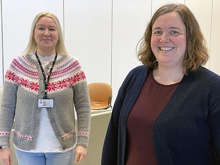Anita H. Tangen og Renate O. Thomassen har vært med siden starten i 2018. De ukentlige møtene i teamet er viktig for fremdriften og noe de hegner om.