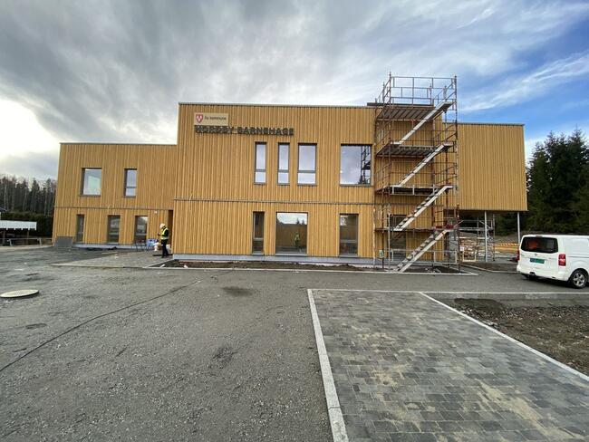 Ås kommune tok over den nye barnehagen i Nordby 30. mars 2020. Foto: Jostein Ådalen/Ås kommune