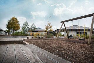 VIL HA MINSTEKRAV: Bildet viser uteområdet i en barnehage. Miljøpartiet de Grønne foreslår nasjonale minstekrav for barnas utemiljø. FUG og FUB støtter forslaget. foto: colourbox