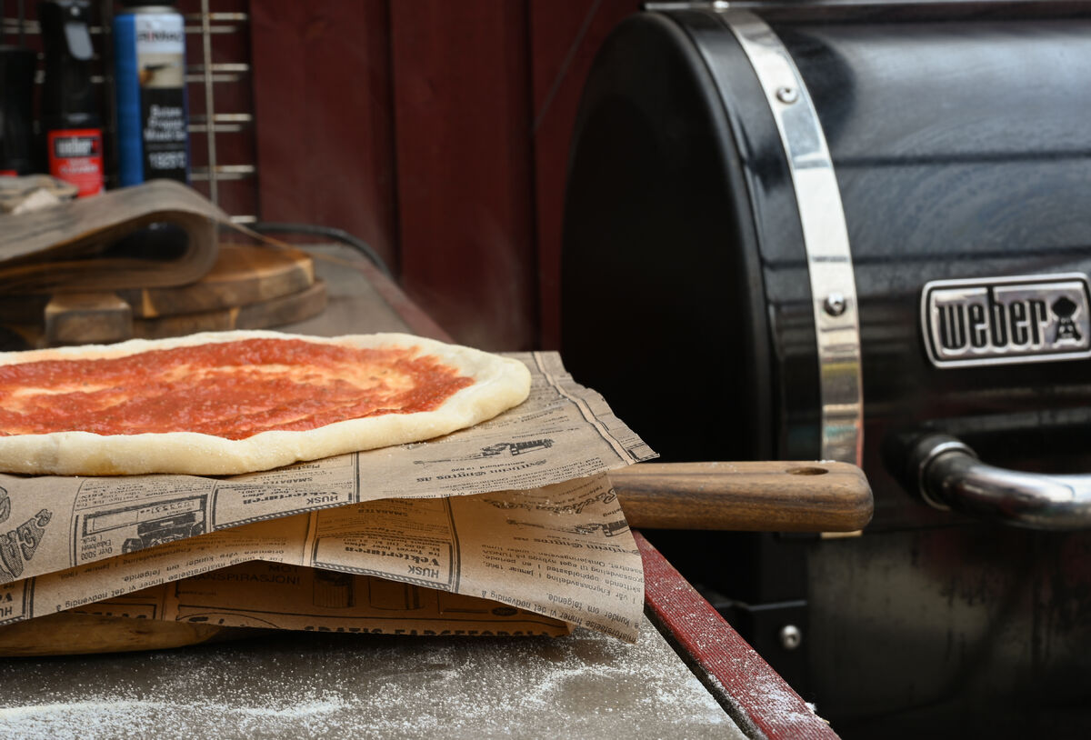 Pizza på smokefire