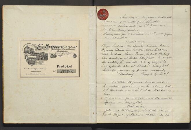 Varaldsøy kommune. Mundheim provianteringsråd, A/Aa/L001: Møtebok for Mundheim provianteringsråd, 1918-1920
