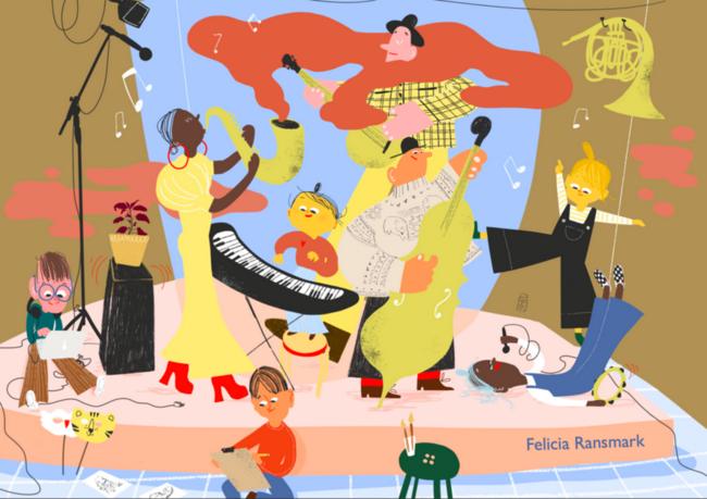 Visuell kunst illustrasjon Kulturskolen