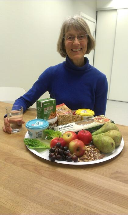 Ingeborg med fristende og sunne mat!