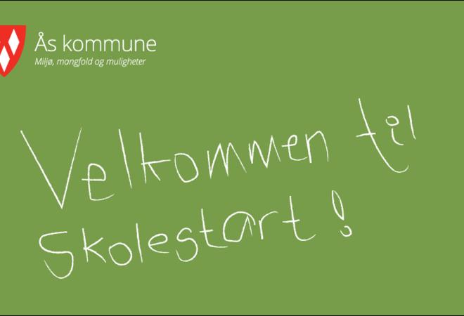 Velkommen til skolestart plakat
