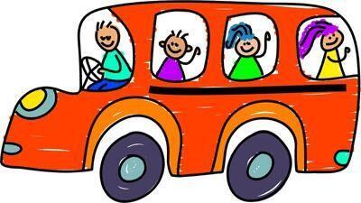 Skolebuss tegning illustrasjon