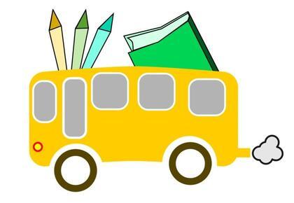 Skoleskyss illustrasjon gul buss