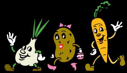 Illustrasjon med grønnsaker