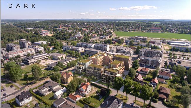 Flyfoto Ås sentrum