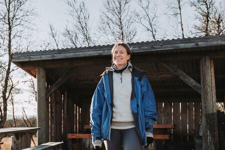 På mandag oppfordres du til å besøke din lokale gapahuk. Foto: Gard Eirik Arneberg