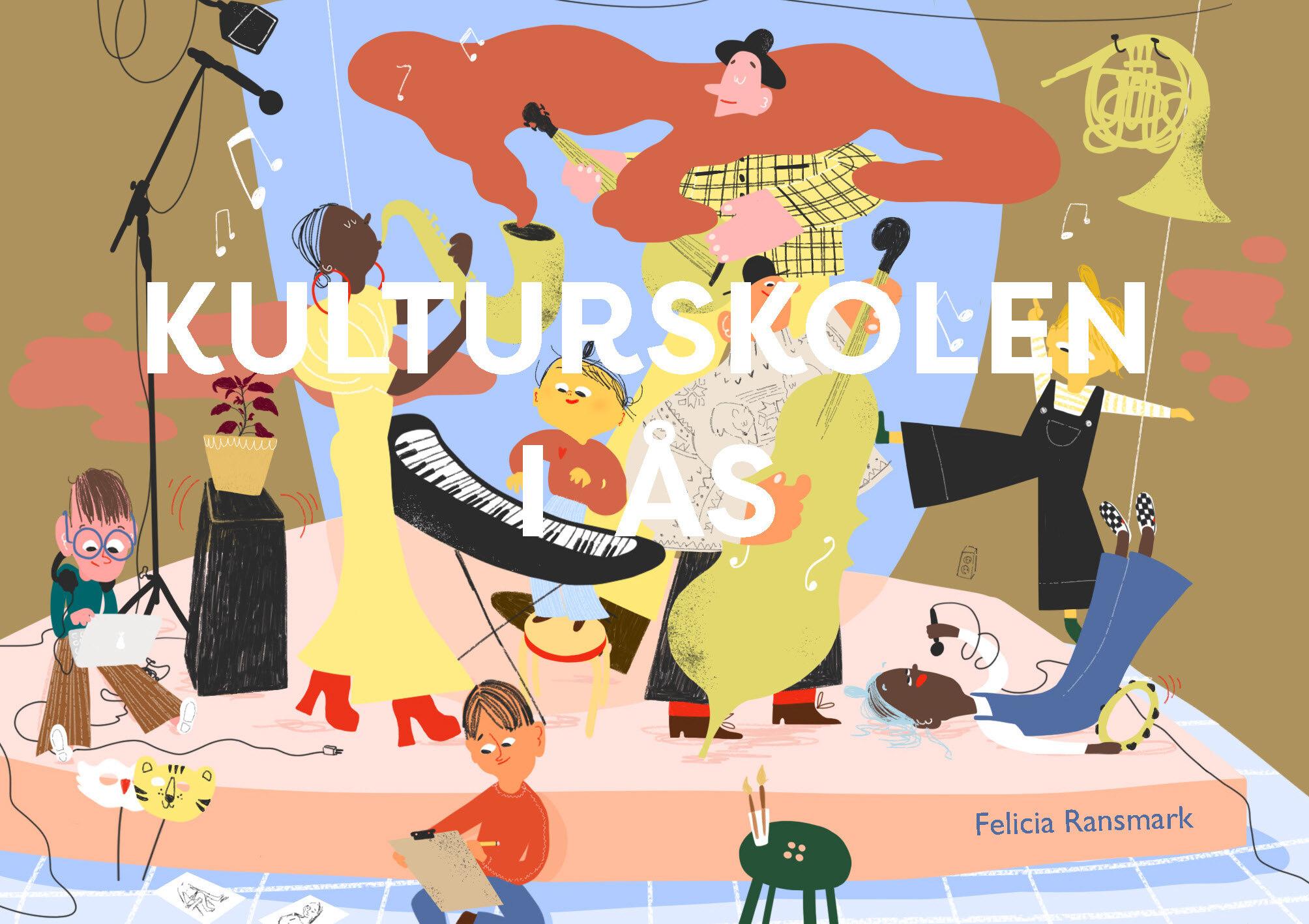 Illustrasjonsbilde forside kulturskolen i Ås