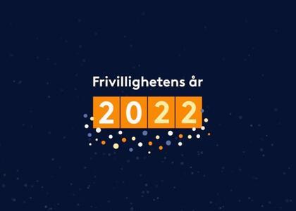Logo for Frivillighetens år 2022