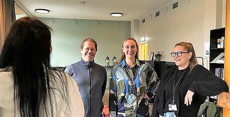 Maria og levator-medarbeiderne Frode Garnes, Veronica Melby og Silje Strømland.