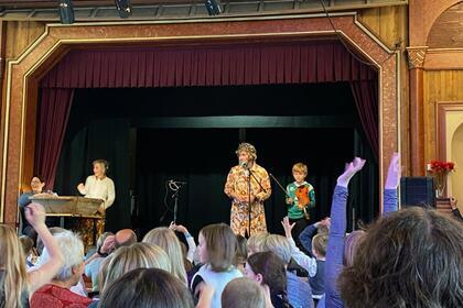 Sigbjørn Eikås (9 år) under sjokoladekappleiken på Vestlandskappleiken 2021.