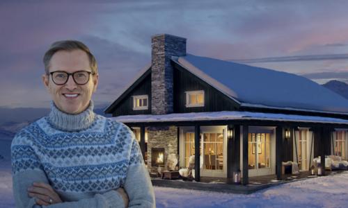 Boligpartner bygger nå en av Halvor Bakkes hyttemodeller på Turufjell. Hytta blir både Bakkes personlige og visningshytte for Boligpartner. Bilde/illustrasjon: Boligpartner