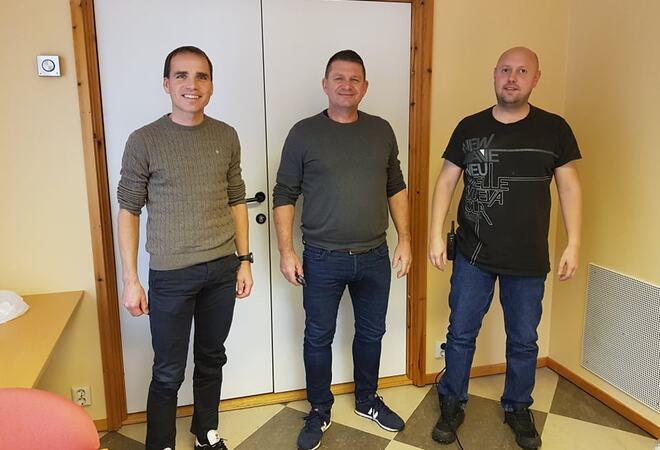 Asplan Viak AS v/ Kristian Karlsen, Ordførar Trygve Skjerdal og ingeniør Henning Elgåen
