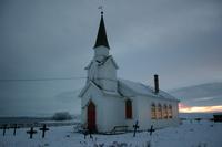 Nesseby kirke, vinter
