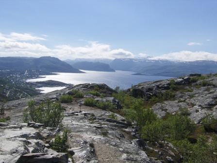 Utsikt fra Komsatoppen i Alta